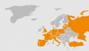 Countries I visited in Europe