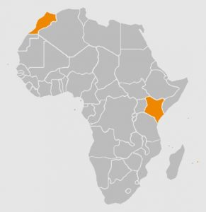Countries I visited in Africa