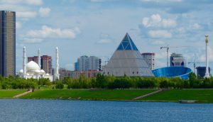 Picture of Astana's buildings and architecture on my backpacking trip in Astana