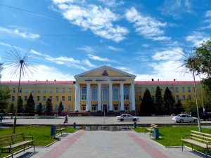 The medical university of Semey, home to the anatomical museum