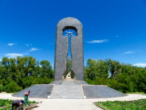 Monument for the nuclear victims in Semey, Kazakhstan