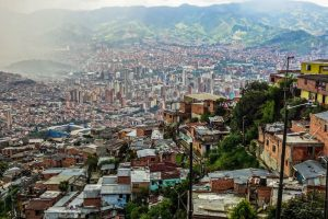 Backpacking Medellin became very safe, the picture shows the skyline of the city