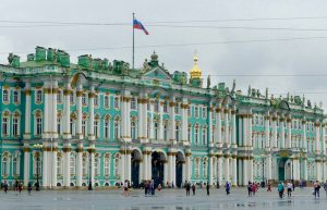 The beautiful Hermitage palace, famous building in St. Petersburg