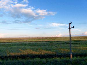 Die Landschaft in Kasachstan, ein Abstecher auf meiner Reise mit der Transsibirischen Eisenbahn