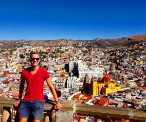 View on colorful Guanajuato on my backpacking trip