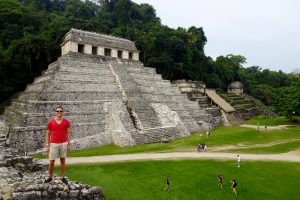 The ruins of Palenque, a backpacking highlight in Mexico