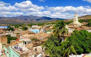 The view on Trinidad in Cuba