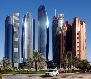 Skyline of Abu Dhabi, most visit on your one day in Abu Dhabi