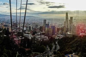 Backpacking Colombia in Bogota, view from Monserrate