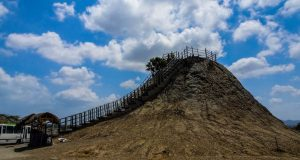 Colombia backpacking itinerary includes the mud volcano