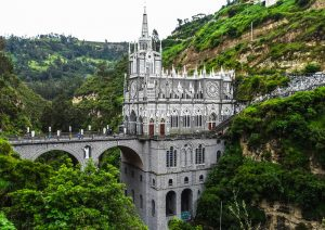 Las Lajas close to ipiales while colombia backpacking trip