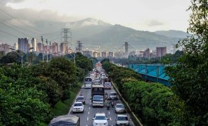 Streets of Medellin, Colombia backpacking trip