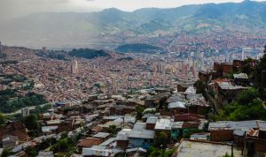 Comunas view from Medellin, Colombia backpacking itinerary