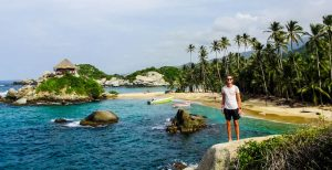 Tayrona national park while backpacking in colombia