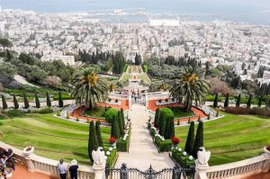 View of the gardens of Haifa