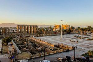 Blick auf den Luxor Tempel, Ägypten
