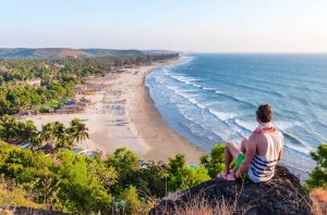 Arambol beach is a famous India backpacking spot