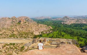 India backpacking in Hampi