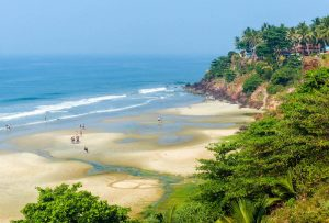 Awesome backpacker beach in Kerala, Varkala