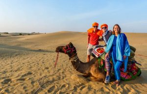 India backpacking into the Thar desert