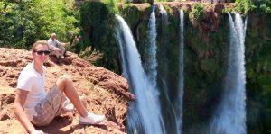Wasserfall als eine Sehenswürdigkeit in Marokko