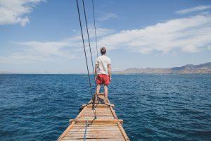 Auf dem Boot durch den Komodo Park war ein Highlight beim Indonesien Backpacking