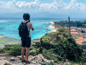 Nusa Lembongan while backpacking around Indonesia