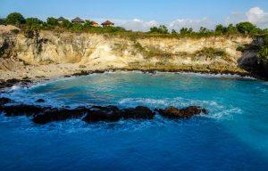 Blaue Lagune auf Nusa Ceningan beim Indonesien Backpacking