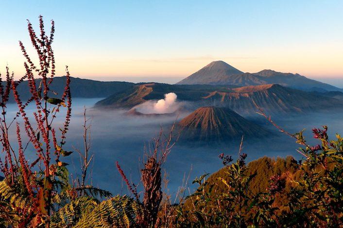 Der Bromo Vulkan auf Java, Indonesien