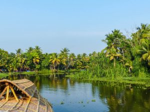 Relaxing backpacking in the backwaters of Kerala