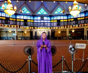 In the national mosque of KL