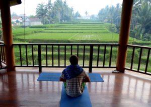 Yoga in Ubud's rice fields