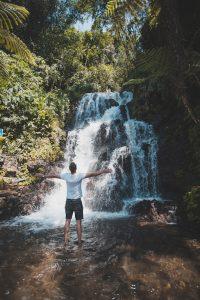 Backpacker's love the Jembong waterfall in Bali