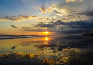 Bali is known for its beautiful sunsets