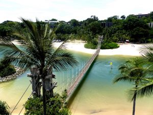 Relax from backpacking at Singapore's Sentosa Island