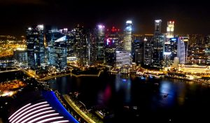 View from the Marina Bay Sands on Singapore
