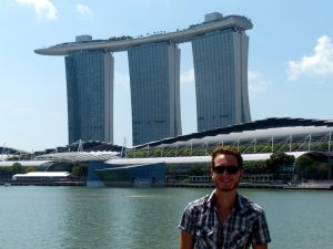 German Backpacker in Singapore