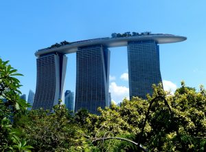 Most famous attraction for backpackers is the Marina Bay Sands in Singapore