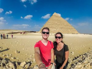 At the pyramids with the YI Technology 4K+ Action Cam
