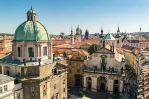 Blick auf das wunderschöne Prag