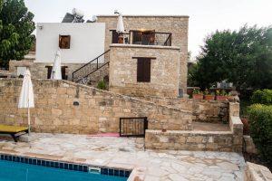 Blick von meiner Unterkunft im Agrotourismus Zypern