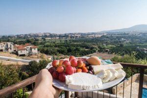 Frühstücksteller in Paphos Zypern