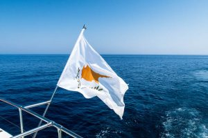 My boat journey with a Cyprus flag