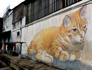 Streetart in Penang beim Backpacking Malaysia