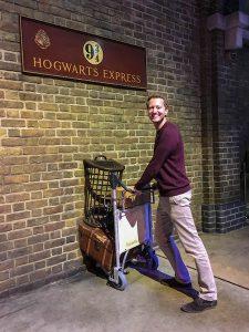 Am Bahnhof im Harry Potter Museum bei London