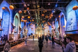 Die Große Halle in den Harry Potter Studios London