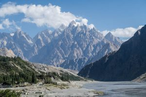 Mountains in the north at my review of IESS summer school Pakistan