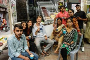 Tea break in Lahore with my IESS summer school group