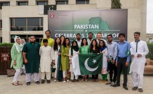 Independence day celebrations at the IESS summer school program at IBA Karachi