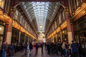 Traveling Leadenhall market London